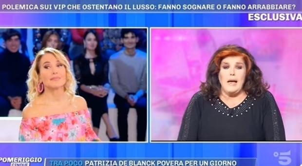 Patrizia De Blank shock a Pomeriggio Cinque