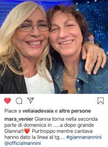 Gianna Nannini e Mara Venier