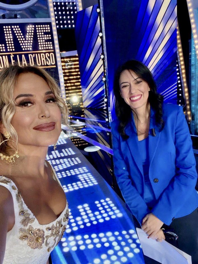 La conduttrice Barbara D'Urso e il Ministro dell'Istruzione Lucia Azzolina
