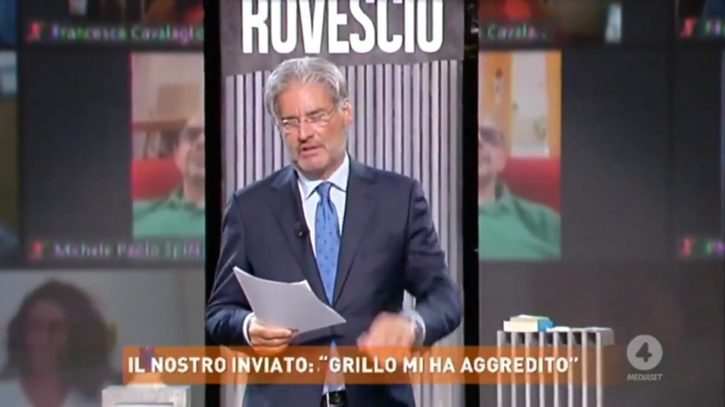 """Il conduttore di """"Dritto e Rovescio"""" Paolo Del Debbio"""