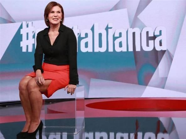 La conduttrice di #Cartabianca Bianca Berlinguer