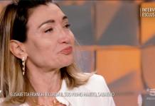 Elisabetta Franchi in lacrime a Verissimo